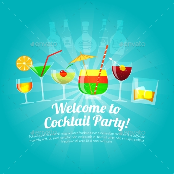 GraphicRiver Alcohol Flat Illustration 11888914