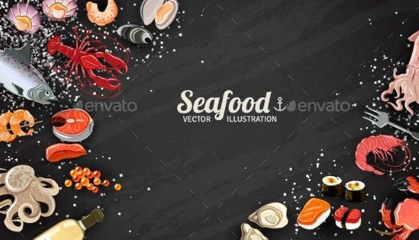 GraphicRiver Seafood And Fish Background 11888997