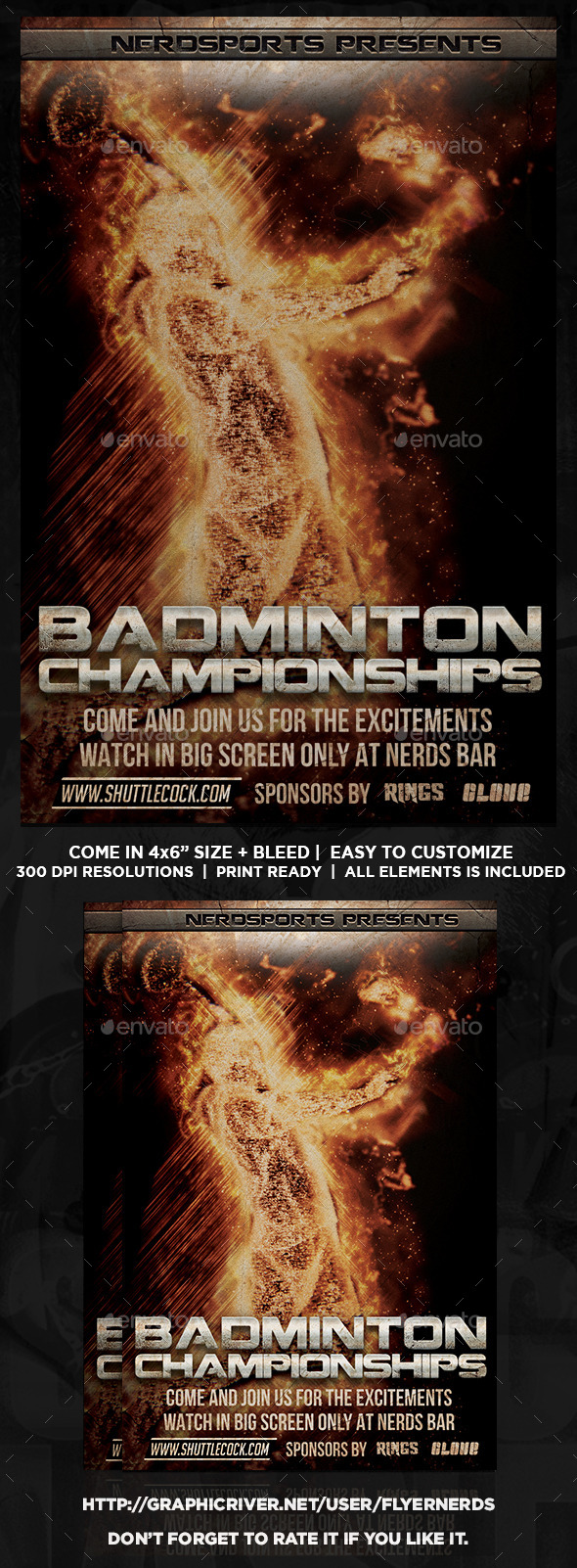 GraphicRiver Badminton Championships Sports Flyer 11889439