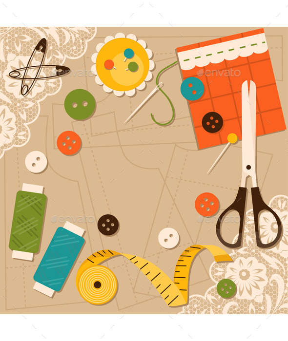 GraphicRiver Sewing Accessories 11889628