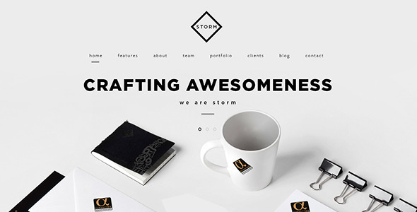 26. STORM | Creative One Page HTML5 Template