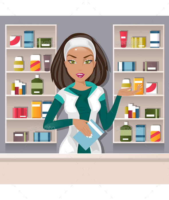 GraphicRiver Female Pharmacist 11889720