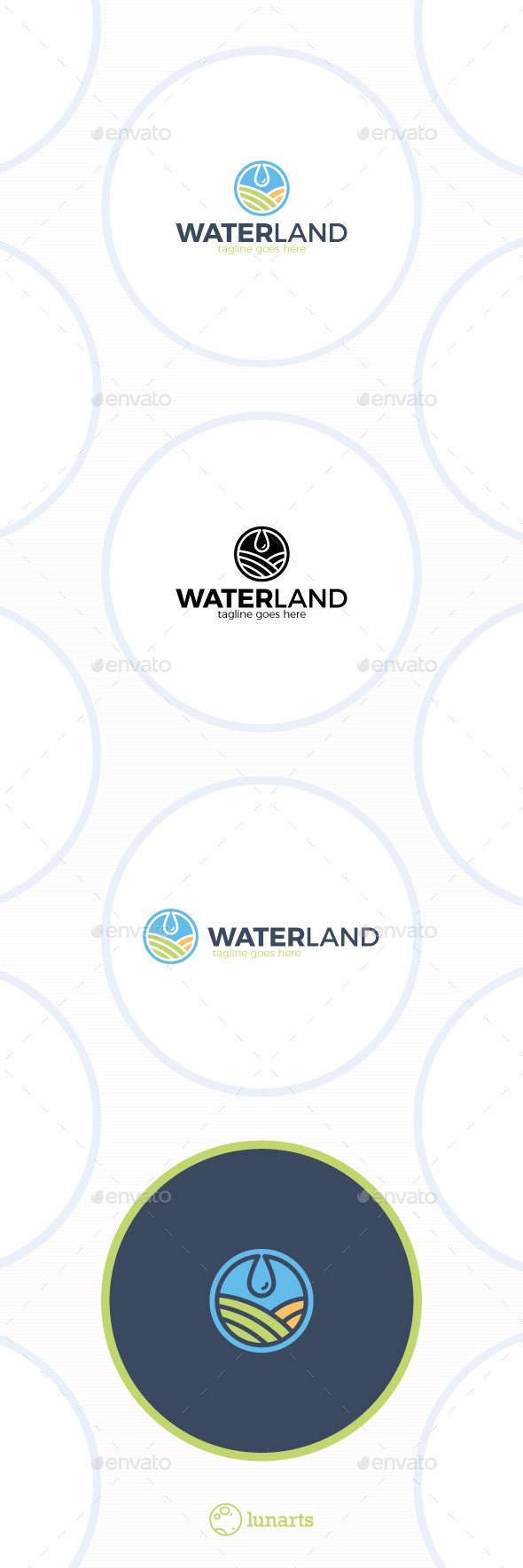 GraphicRiver Water Land Logo Drop Field 11889724