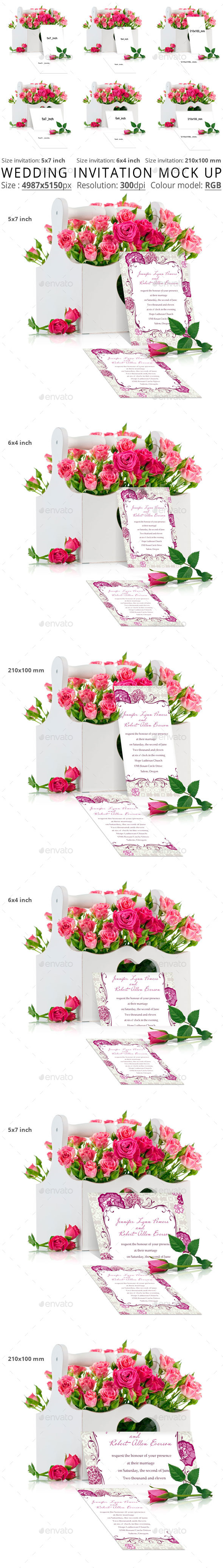 GraphicRiver Wedding Invitation Mock Up 11889776
