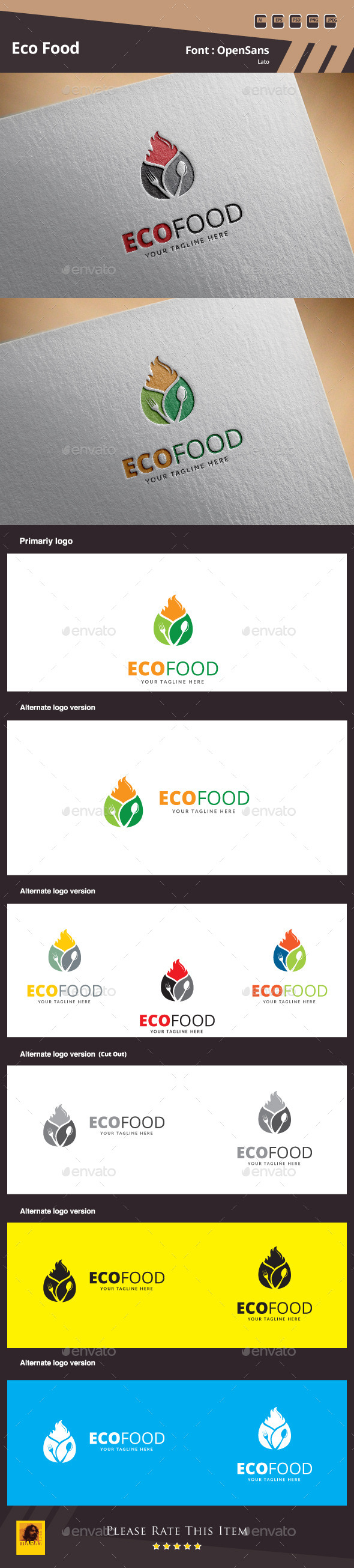 Eco Food Logo Template