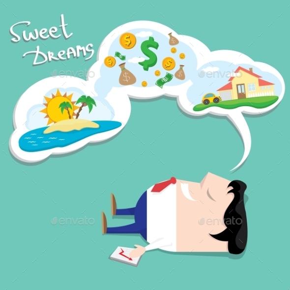 GraphicRiver Business Man Dreaming Cartoon Illustration 11889791