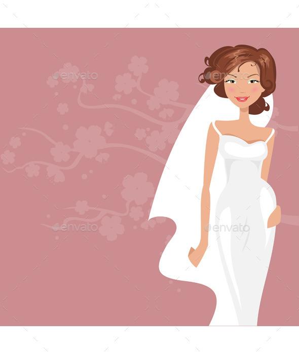 GraphicRiver Bride in White Dress 11889856