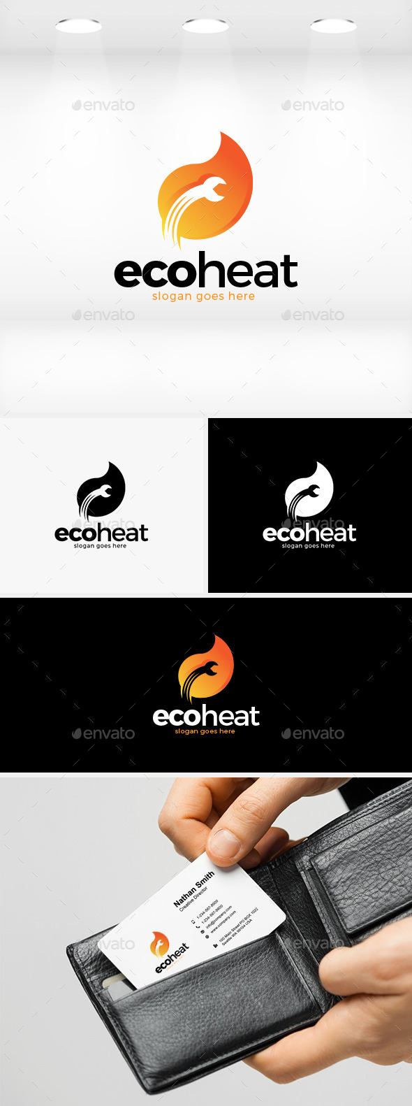 GraphicRiver Eco Heat Logo 11889960