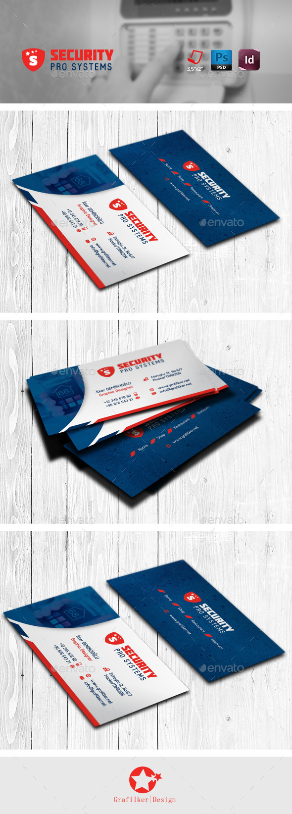GraphicRiver Security Business Card Templates 11890032