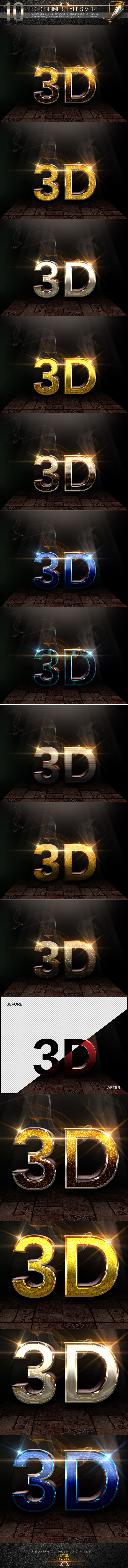 GraphicRiver 10 3D Text Styles V.47 11890070