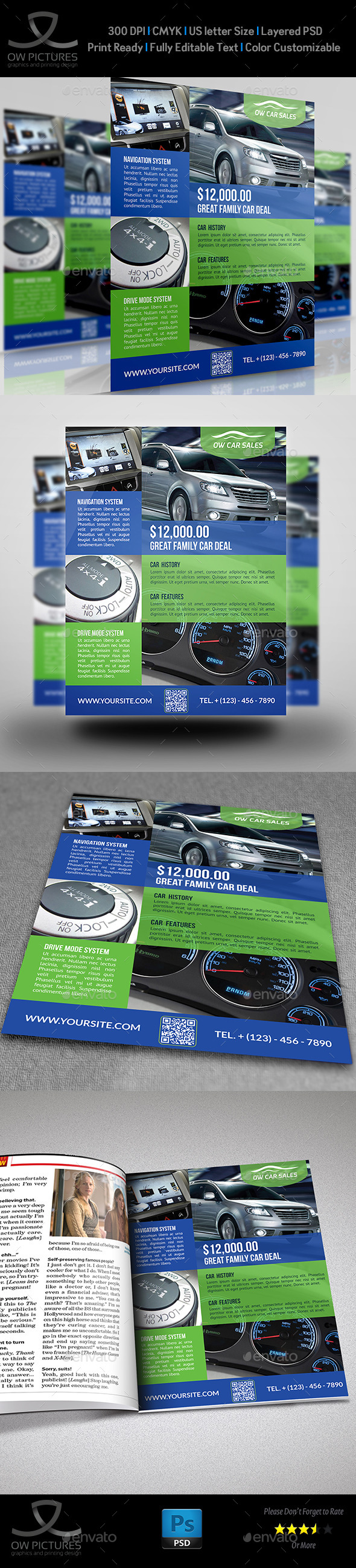 GraphicRiver Car for Sale Flyer Template Vo.2 11890113