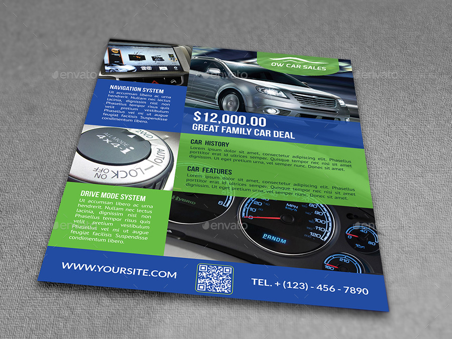 Car for Sale Flyer Template Vo2 by OWPictures – Car for Sale Flyer Template