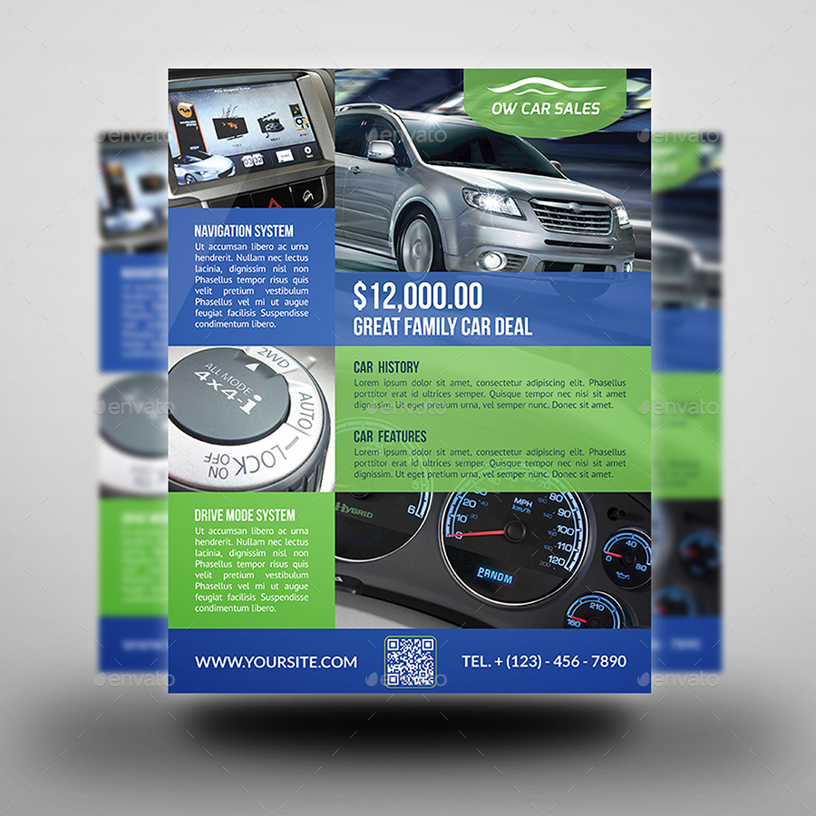 Car for Sale Flyer Template Vo2 by OWPictures – Car for Sale Flyer