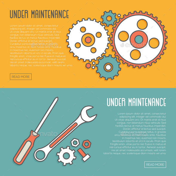 GraphicRiver 2 Under Maintenance Website Page Message Banners 11890293