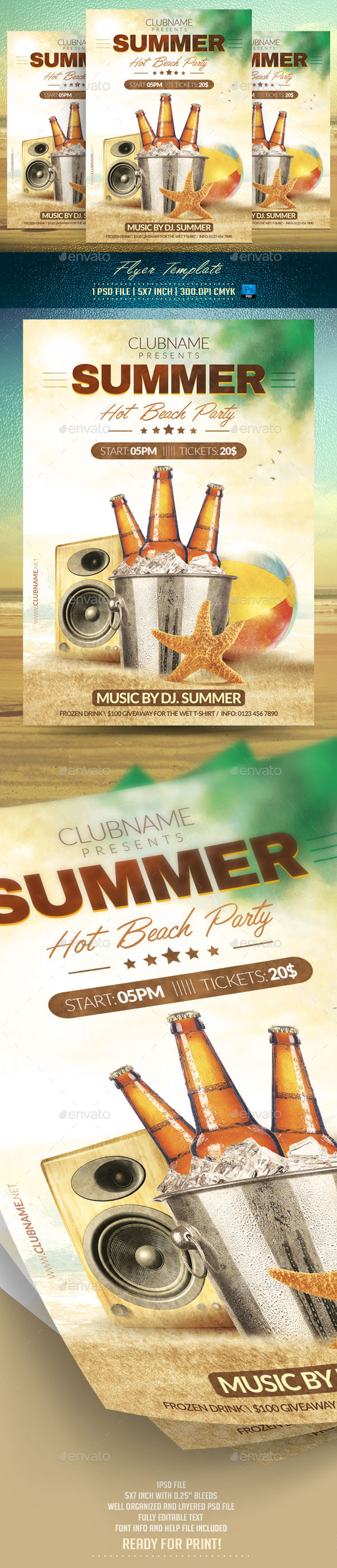 GraphicRiver Summer Party Flyer Template 11890494