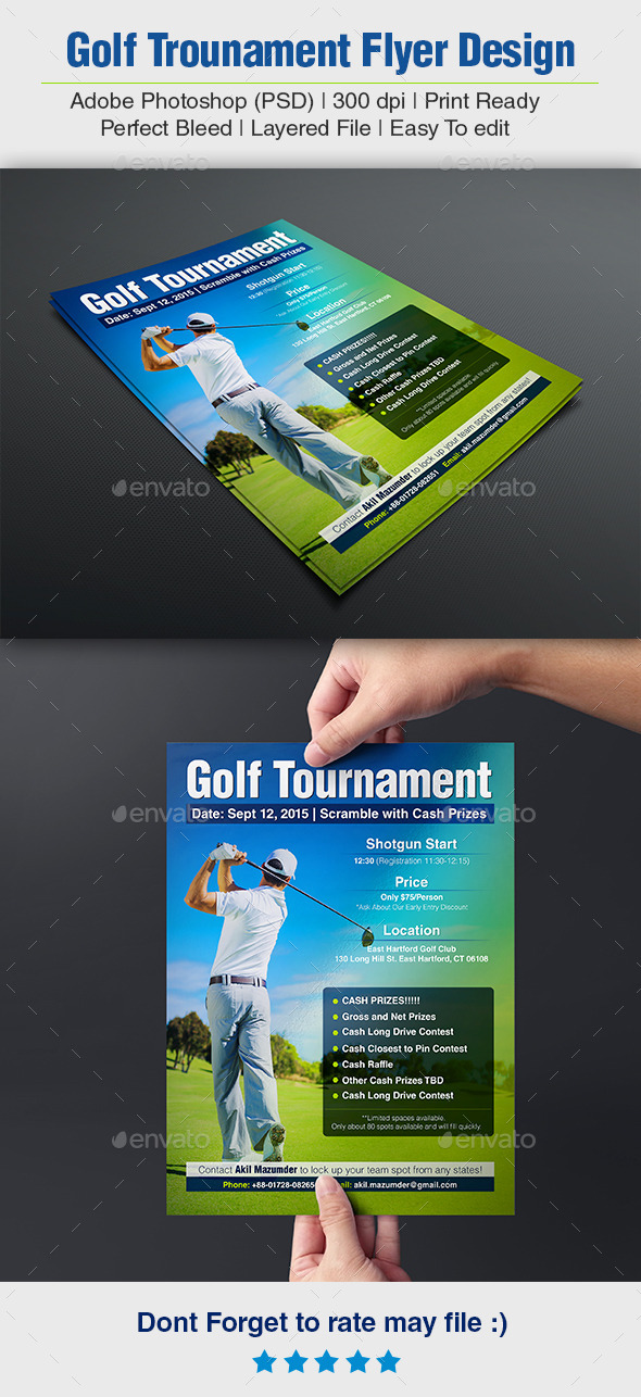 GraphicRiver Golf Tournament Flyer 11890846