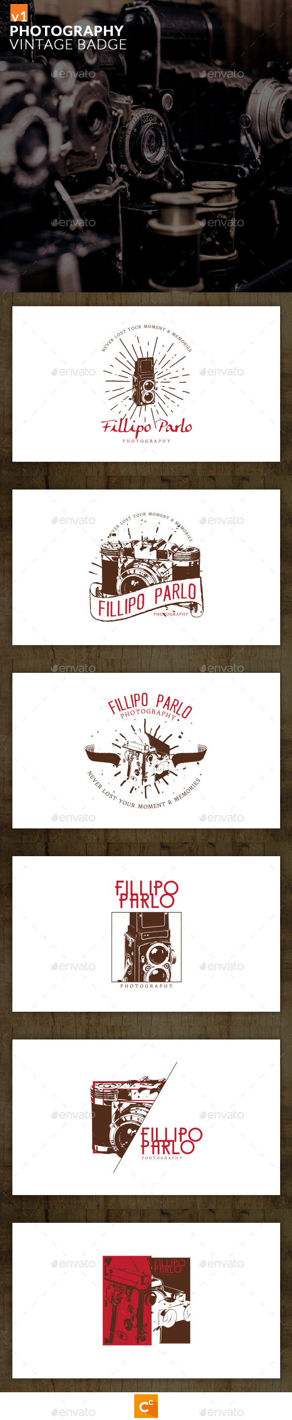 GraphicRiver Photography Vintage Badge 11890853