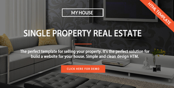 ThemeForest MyHouse Single Property Real Estate HTML Template 11786514