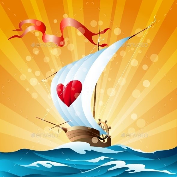 GraphicRiver Cartoon Boat 11890900