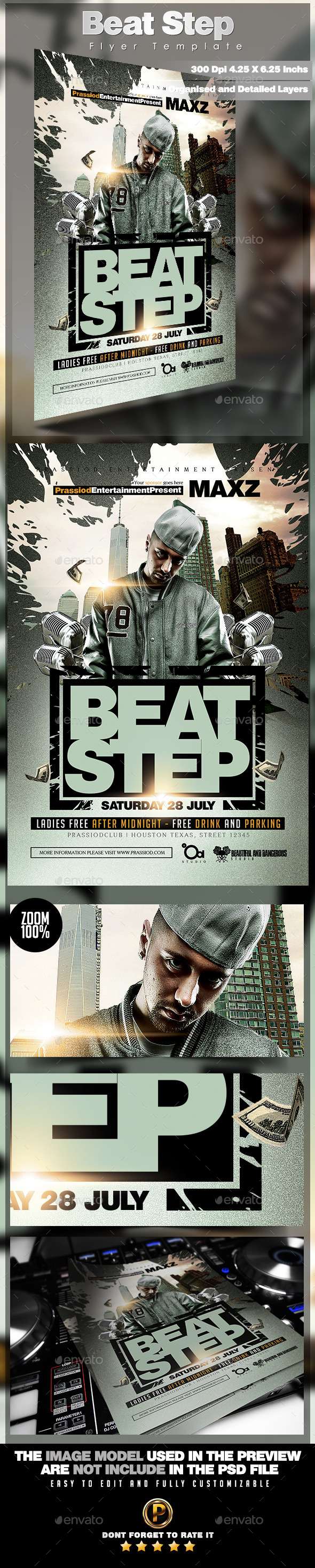 GraphicRiver Beat Step Flyer Template 11891327