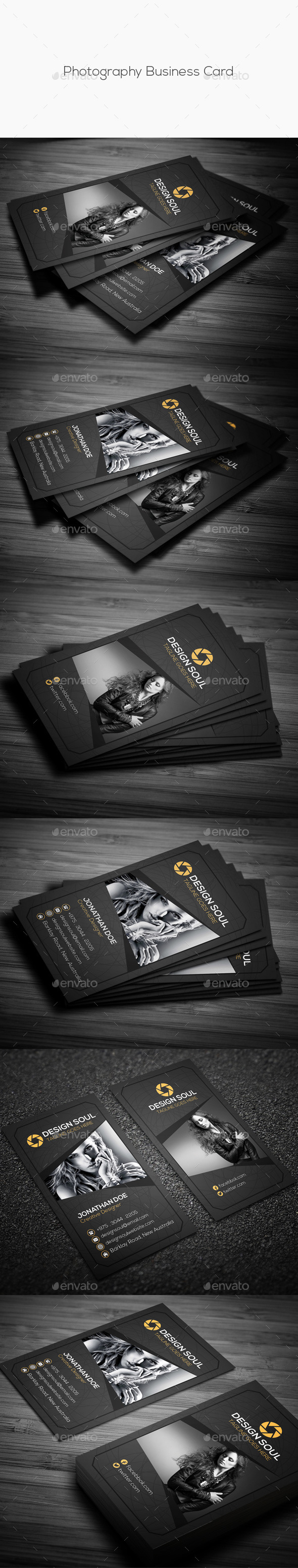 GraphicRiver Photography Business Card 11891369
