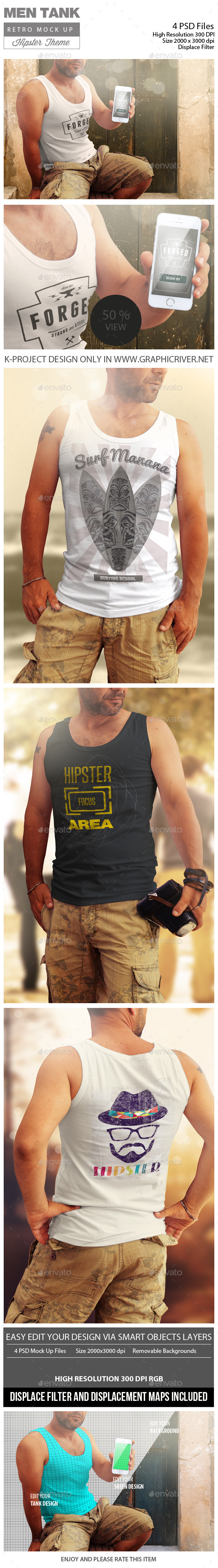 GraphicRiver Men Tank Retro Mock Up 11891441