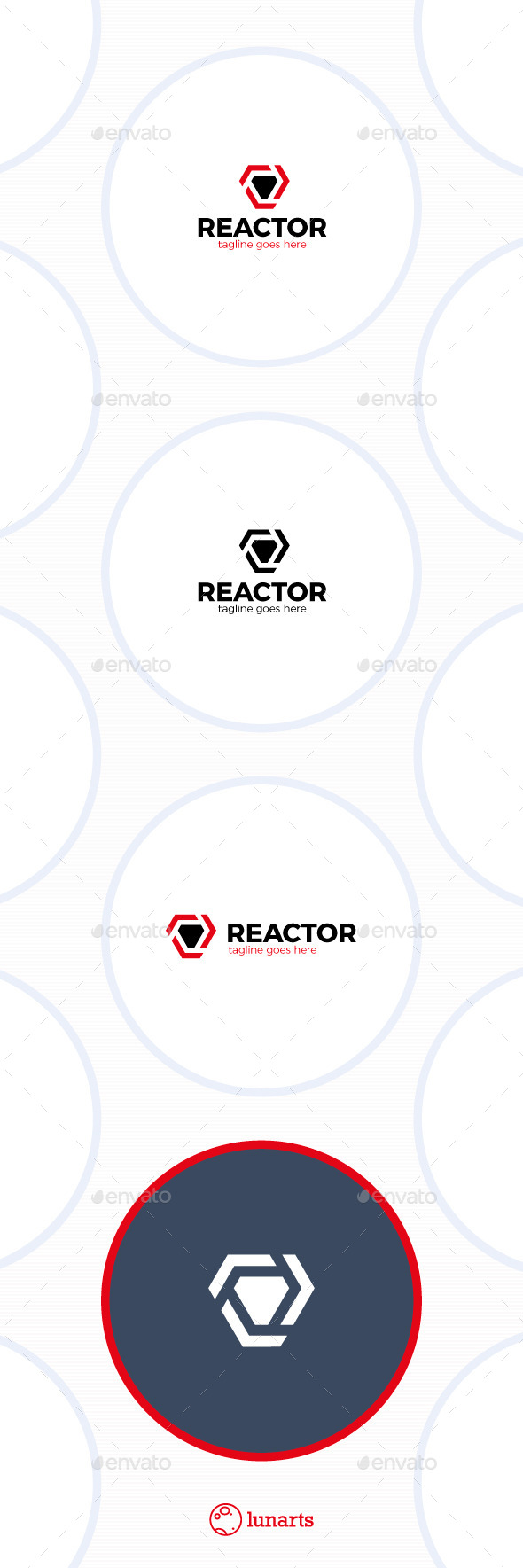 GraphicRiver Trinity Arrow Reactor Logo 11891476