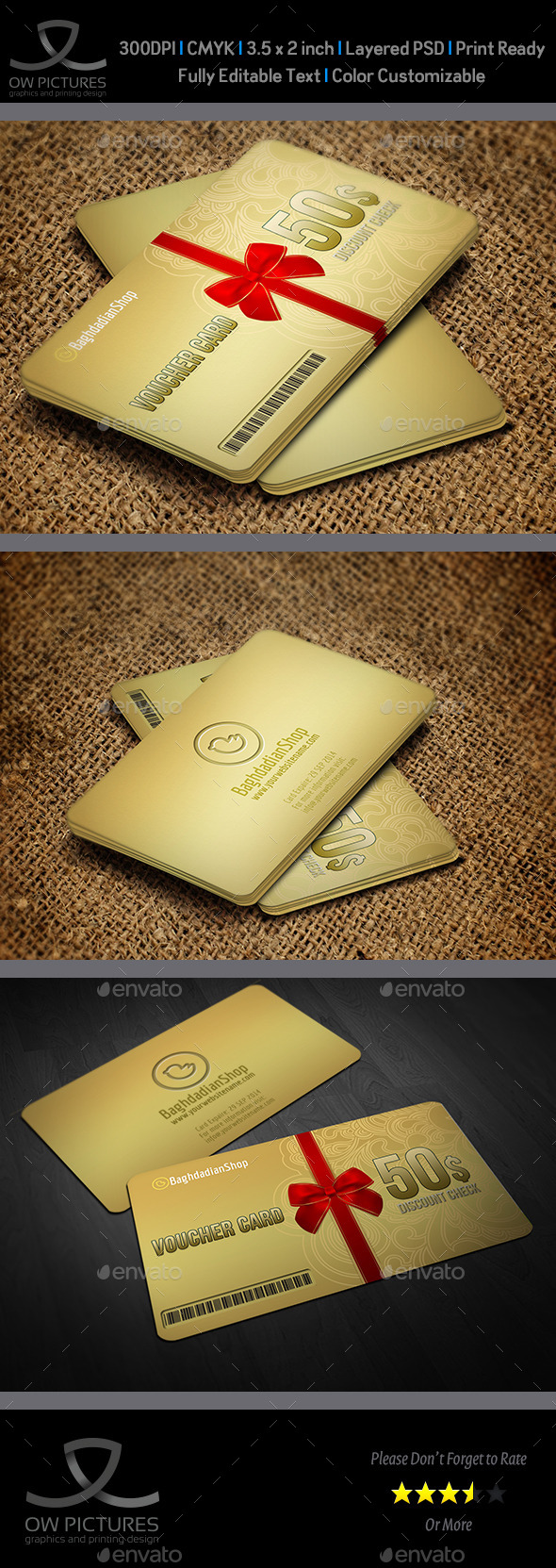 GraphicRiver Gift Voucher Card Template Vol 17 11891531