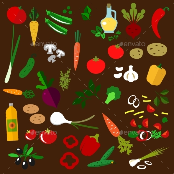 GraphicRiver Ingredients Of Fresh Vegetable Salad 11891563