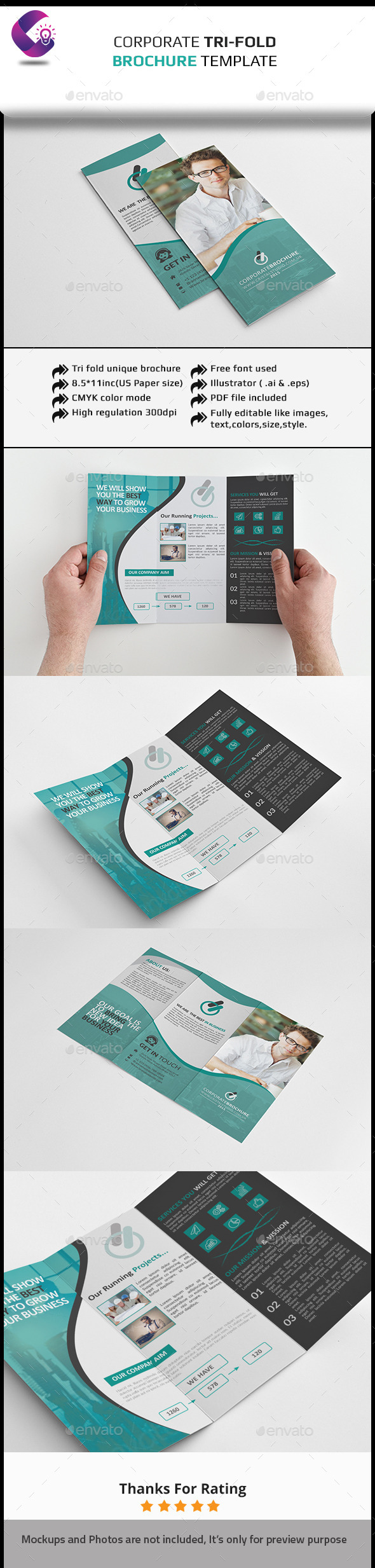GraphicRiver Corporate Tri-fold Brochure-Multipurpose 11891573