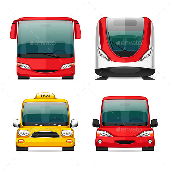 GraphicRiver Colorful Transportation Icons 11890104