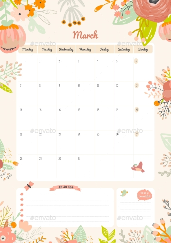 GraphicRiver Calendar Diary 2016 With Seasonal Themes 11891608