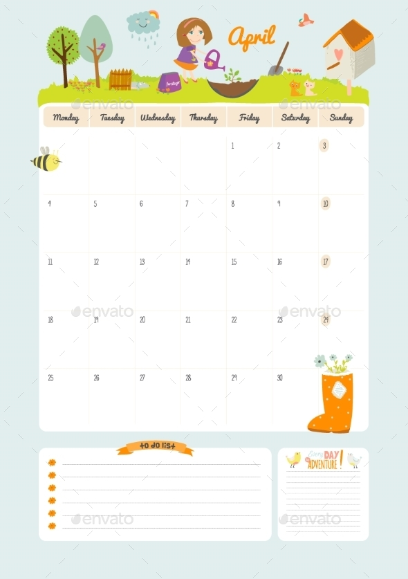 GraphicRiver Calendar Diary 2016 With Seasonal Themes 11891609