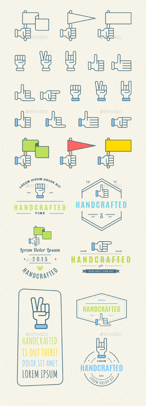 GraphicRiver Trendy Retro Vintage Insignias and Logo 11891614