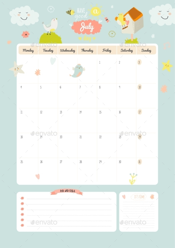 GraphicRiver Calendar Diary 2016 With Seasonal Themes 11891615