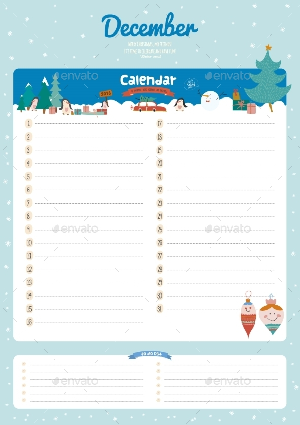 GraphicRiver Calendar Diary 2016 With Seasonal Themes 11891627