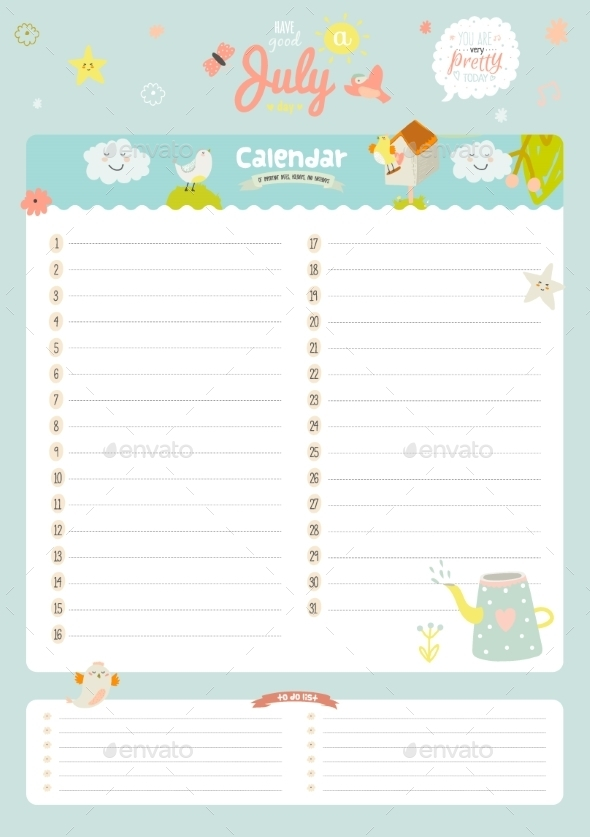 GraphicRiver Calendar Diary 2016 With Seasonal Themes 11891631