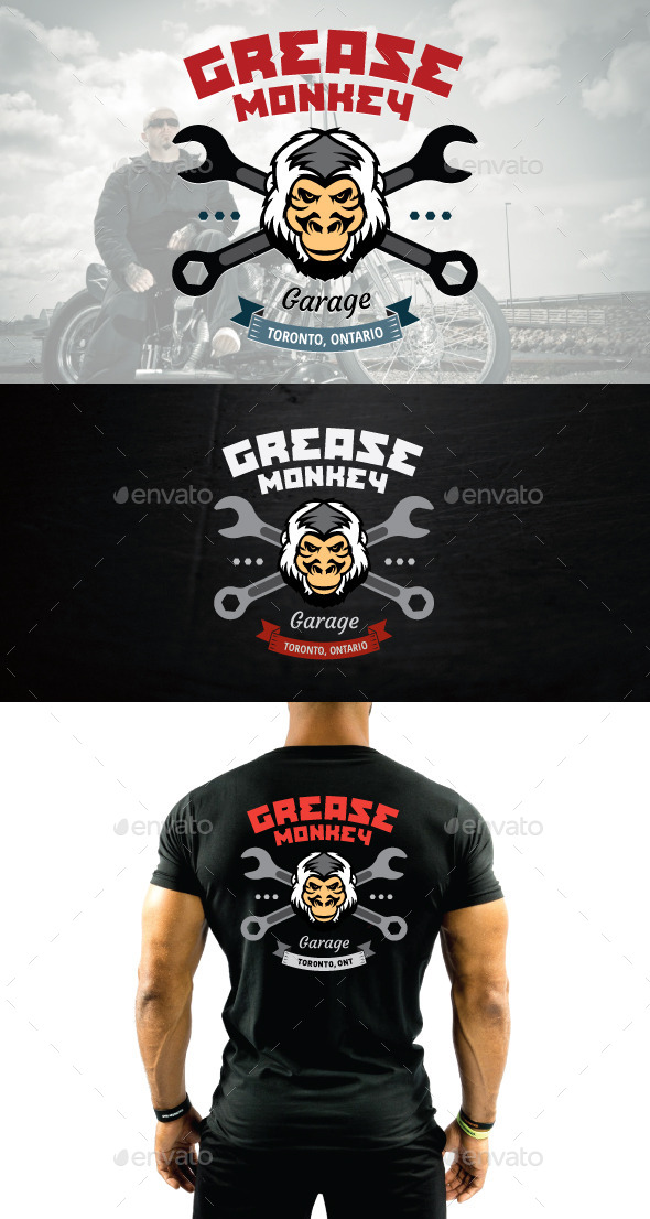 GraphicRiver Mechanic or Motorcycle Shop Vector Logo 11861861