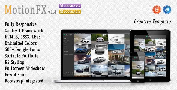 MotionFX - Responsive Joomla Template
