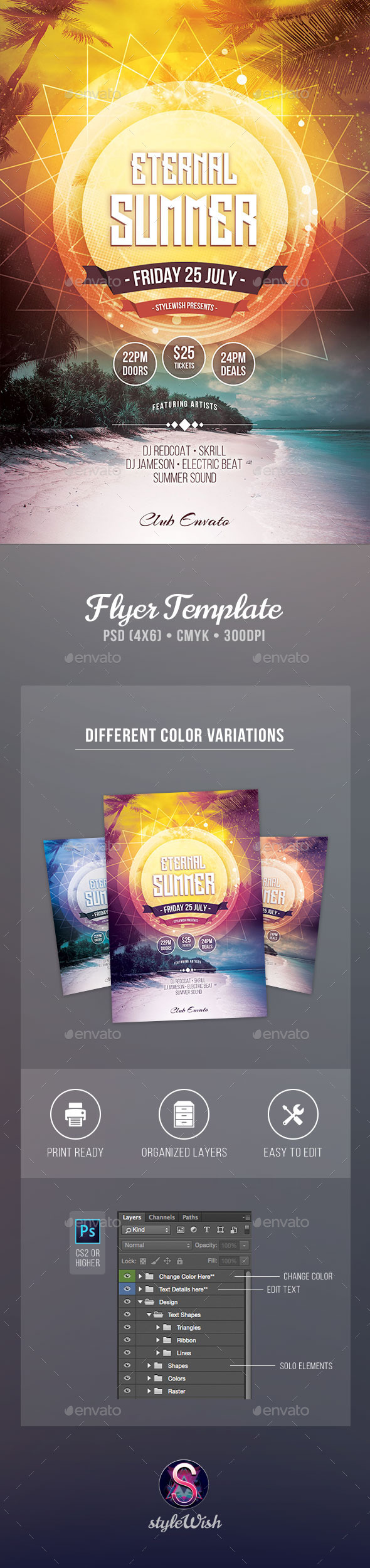 GraphicRiver Eternal Summer Flyer 11891822