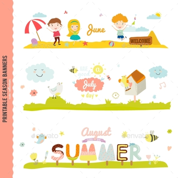 GraphicRiver Monthly Seasonally Vector Backgrounds Banners 11891834