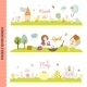 Monthly Seasonally Vector Backgrounds Banners - GraphicRiver Item for Sale