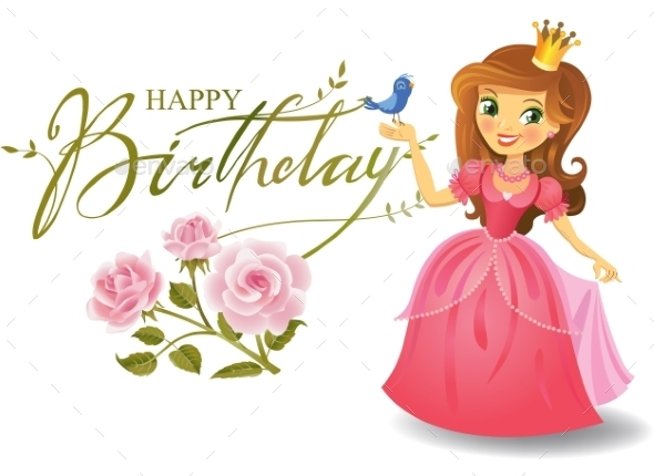 GraphicRiver Happy Birthday Princess Greeting Card 11891846