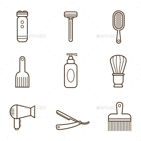 GraphicRiver Barber Icons 11891927