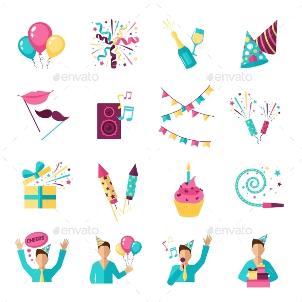 GraphicRiver Party Icons Set 11891941