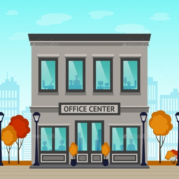 GraphicRiver Office Center Building 11891943