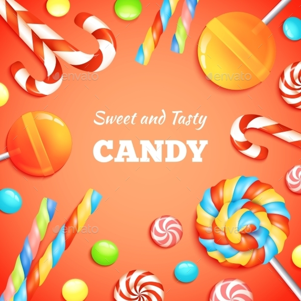 GraphicRiver Sweets And Candies Background 11891953