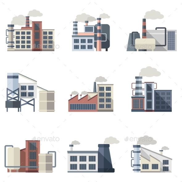 GraphicRiver Industrial Building Set 11891968