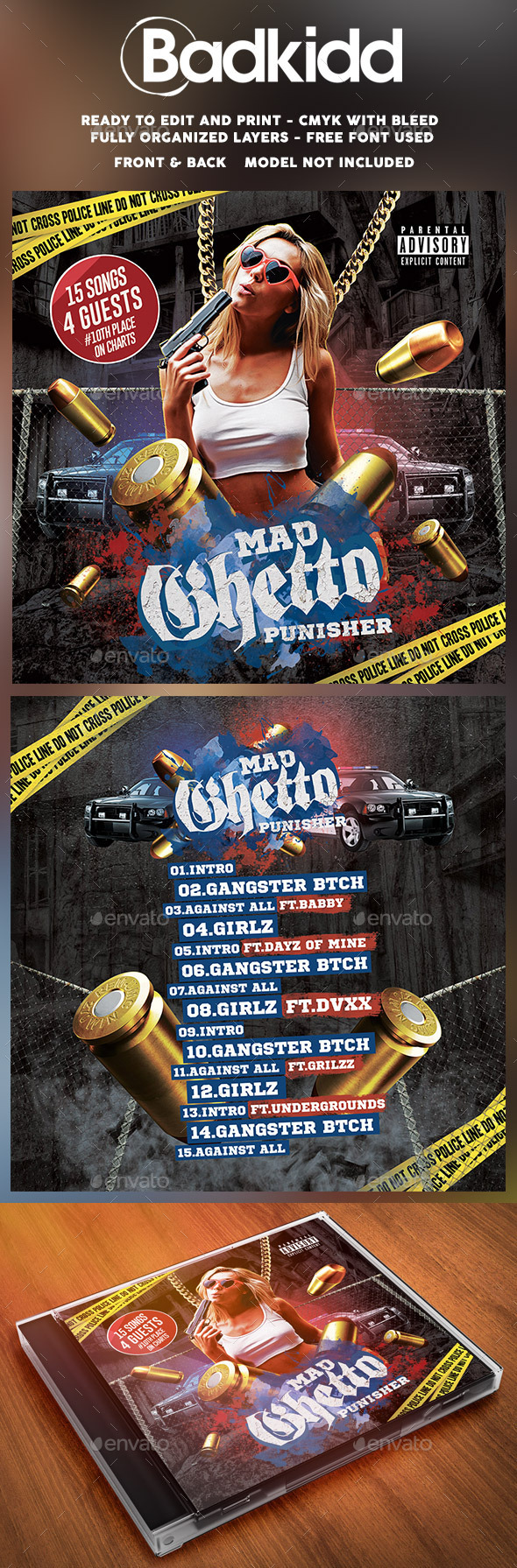 GraphicRiver Mixtape Cover Mad Ghetto 11891991