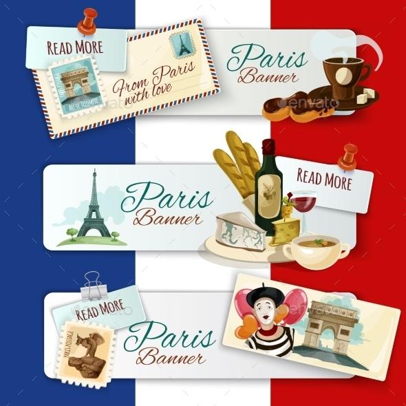 GraphicRiver Paris Touristic Banners 11892020